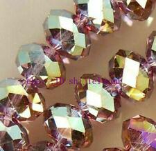 1000pcs 4x6mm Purple AB Multicolor  Crystal Beads