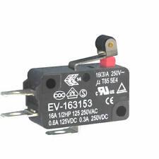 4 Stück MIKROSCHALTER 250VAC 16A EV-163153 ECE Kurzer Rollenhebel Endschalter