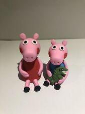3D Peppa Pig And George Pig Edible Cake Topper Fondant, Gum paste, Icing Sugar,