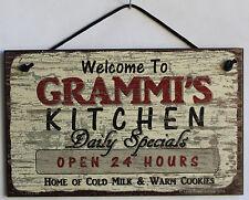 Grammi s Sign Kitchen Grandma Mom Diner House Bake Cook Cookie Grand Parent Home