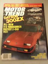 Motor Trend Magazine November 1983 - Datsun 300ZX - BMW 533i - 205-HP Mustang
