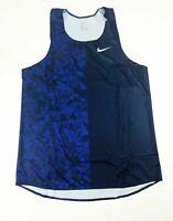 Nike Digital Race Day Elite Running Singlet Track Men's Large Blue 835880-419