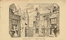 george cruikshank print 1837 . febuary - valentines day
