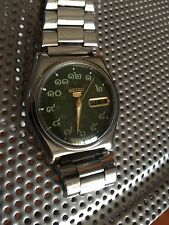 Seiko 5 Automatic Rare Green Face Thai Numbers Vintage Watch