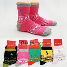 5 Pairs Lot Women's HJC Polo Geometric Argyle Crew Combed Cotton Socks US 9-11