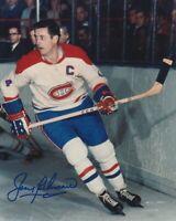VINTAGE JEAN BELIVEAU SIGNED MONTREAL CANADIENS 8x10 PHOTO #2 HHOF Autograph