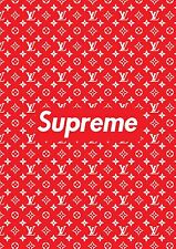 SUPREME POSTER RED  supreme x Louis v A1 Bedroom Poster Cool Trendy RARE