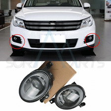 Pair Front Bumper LED Fog Light With Lens Fit For VW Tiguan Golf Jetta MK6