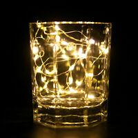 NEU Lichterketten Drahtlichterkette Weihnachten Dekoration Batterie innen 30 LED