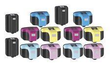 13PK New Hi-Yield BK & 5 Color Ink For HP 02 PhotoSmart C7100 C7180 C8150 D7160