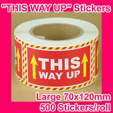 "500 ""THIS WAY UP"" sticker/label 120mmx70mm GST INCLUDED (1 roll)"