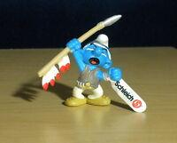 Smurfs 20550 Spear Smurf Indian Figure Germany Rare Vintage PVC Toy Figurine Lot