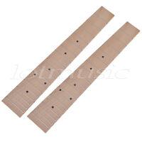 2pcs 26 inch Ukulele Fretboard Fingerboard 18 Frets Maple For Tenor Ukulele