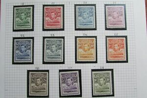 XL5534: Basutoland (1938): Complete KGVI Mint Stamp Set to 10/-. SG18 - 28