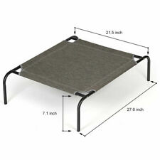 Pet Cot for Dog or Cat, Indoor Outdoor, Camping, Steel and Canvas Bed, Portable