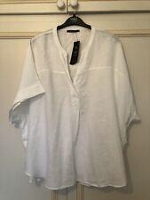 M&S pure linen curve white shirt 26