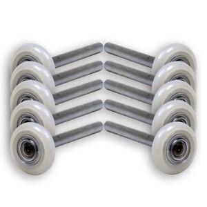 13 Ball Nylon Garage Door Rollers (4 Inch Stem) Sealed Bearing (10 PACK)