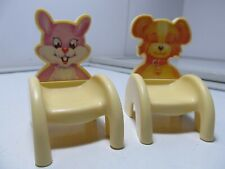 2 Playhouse/Dollhouse Furniture Chairs