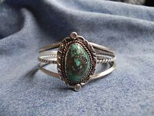 Turquoise & Sterling Silver Cuff Bracelet by RL Rob Livingston Navajo