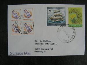 PAPUA NEW GUINEA, cover (Mail Centre Lea) to Germany 1992 ao sailship tree