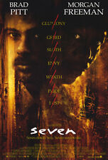 "SEVEN (Se7en) Movie Poster [Licensed-New-USA] 27x40"" Theater Size  (Brad Pitt)"
