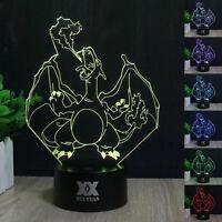 3D Acrylique LED 7 Couleur Nuit Lumière Veilleuse Lampes de Table Créatif Cadeau