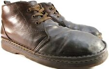 Dr Martens Vtg Men Leather  Ankle Desert Boots Size 12 Brown Cushioned Insole