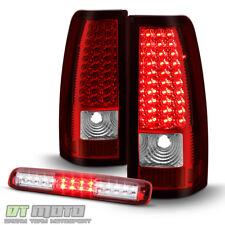 1999-2006 GMC Sierra 1500 2500 3500 Red LED Tail Lights+LED 3rd Brake Cargo Lamp
