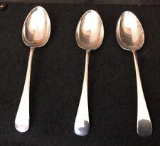 "3 X Plaqué Argent 7"" queue de rat Desert Spoons w&co cutlery"