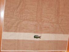 LACOSTE SIGNATURE CROC SESAME BATH TOWEL 30 x 52 NEW AUTHENTIC