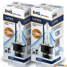 2 x D4S Genuine LUNEX XENON BULB REPLACEMENT FOR PHILIPS , GE OR OSRAM - 6000K