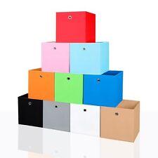 4er Set Faltbox in der Farbe Schwarz 34 x 34 cm Faltkiste Regalkorb Regalbox Kin