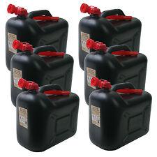 6x Kraftstoffkanister KKS20PE 20 Liter SCHWARZ Benzinkanister 20L Kanister Set