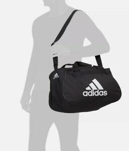 Adidas Diablo Small Duffel Gym Bag Black & Neon Coral Pink LNWOT! 18Lx10Wx11D