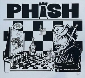 PHISH Dinner and A Rematch Jim Pollock 1995 NYE Chess Poster 2021 Trey Dry Goods