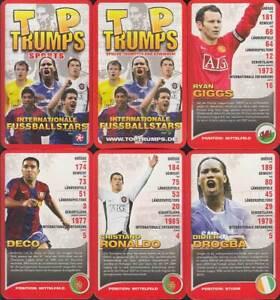 """Winning Moves """"Internationale Fussballstars"""" 2008 (G, Quartett-Nr. 060666) Z 0-1"""
