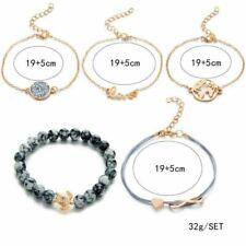 Fashion Womens Bangle Bracelets Set Rhinestone Boho Gold Silver Cuff Jewellery