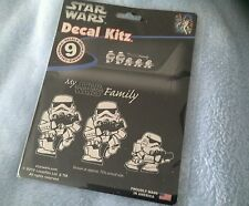 STAR WARS Decal Kitz 9 PC My Star Wars Family Storm Troopers Window Stickers NEW