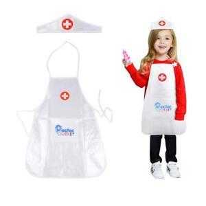 Children Kids Doctor Nurse Coat Costume Toddler Uniform Fancy Dress up Cosplay