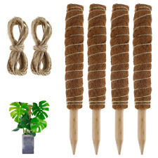 More details for 2/4pc coir moss totem pole 30/40/50cm plant extension support creeper climb pole