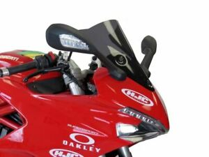 Ducati Supersport 17-2021  Airflow Dark Tint DOUBLE BUBBLE SCREEN by Powerbronze