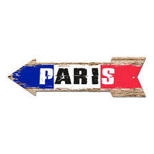 AP-0310 PARIS Arrow Street Tin Chic Sign Name Sign Home man cave Decor