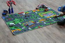 Road Map Rug Racing Cars Children's Rugs 94cm x 164cm Play Mat Car Village Rug