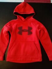 Under Armour Toddler Boys Red Hooded Pullover Hoodie Sweatshirt Top Size YSM/JP