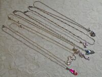 VINTAGE TO NOW ASSORTED SILVER TONE CHAIN PENDANT NECKLACE LOT MERMAID SANDAL