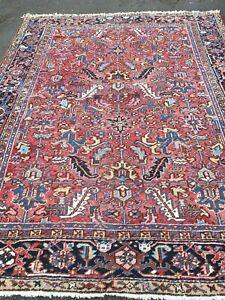 antico-swiss Beautiful Antique IndoHERIZI rug  7`4 x 9`4 ft