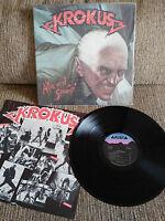"Krokus Alive And Screamin LP 12 "" Vinyl vinyl Arista USA Edition 1986 VG/VG - 2T"