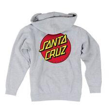 Santa Cruz CLASSIC DOT ZIP FRONT Skateboard Hoodie ASH XXL