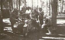 WWII Original German Army RP- Sidecar Motorcycle- Woods- Soldier- Helmet- 1940s