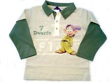 Neu! Disney Schneewittchen 7 Zwerge Langarm Poloshirt T-Shirt Shirt Gr.86